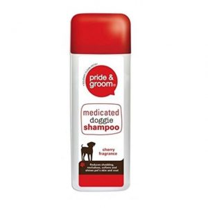 Pride & Groom Medicated Shed Control Dog Shampoo – 300ml