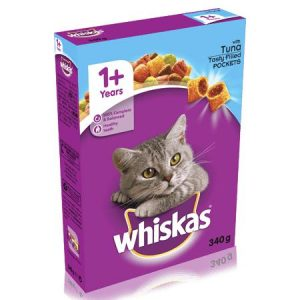 Whiskas Cat Biscuits Tuna Filled Pockets 340g